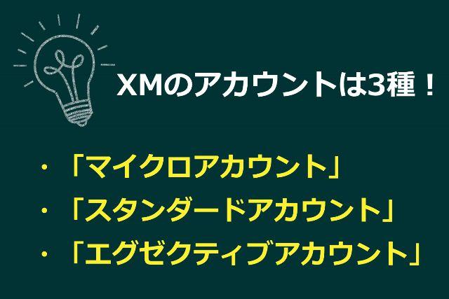 xmtradingは3種類の口座